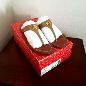 Tory Burch Sand Patent Leather Cameron Sandal